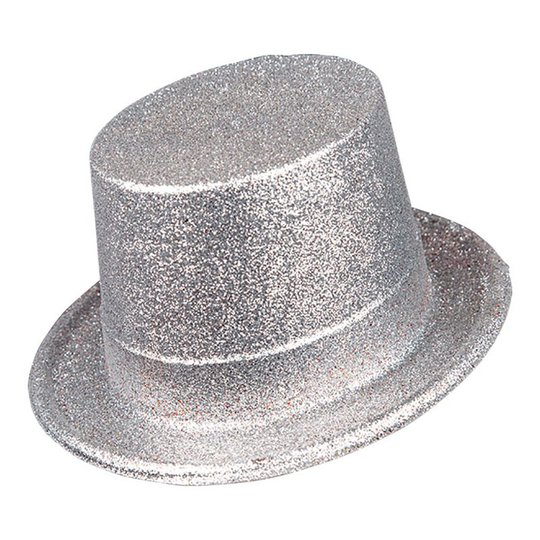 Glittrig Höghatt Silver i Plast - One size