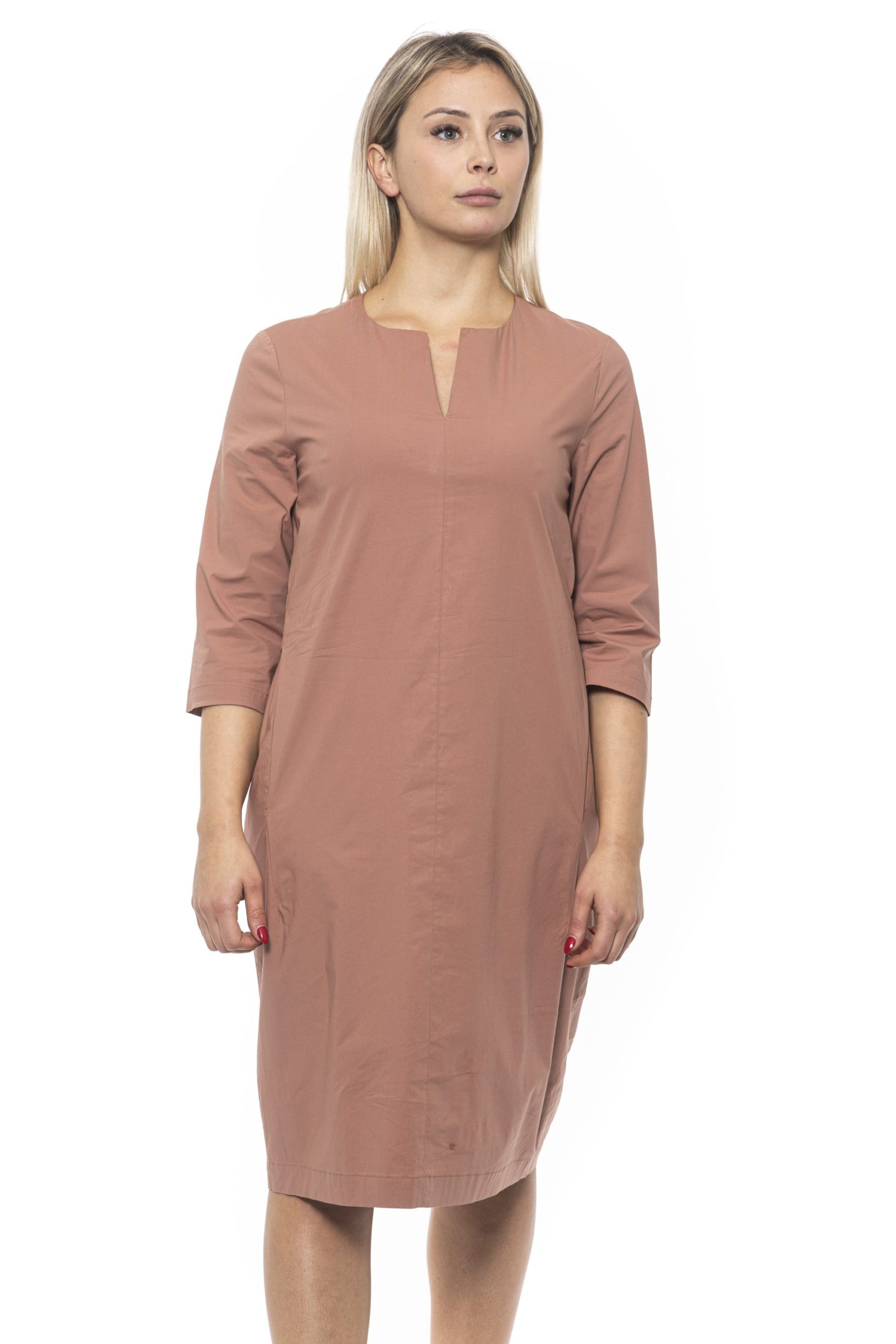 Peserico Women's Marrone Dress Brown PE1383278 - IT42 | S