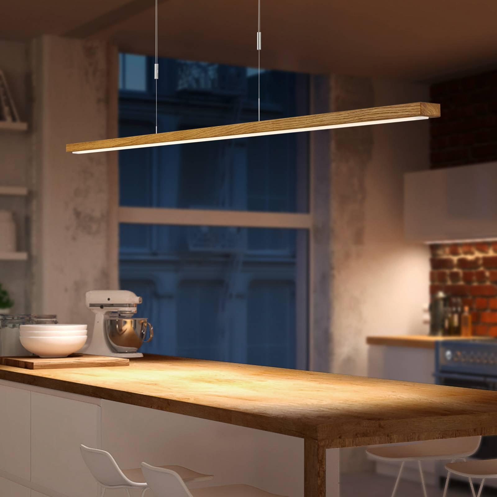 BANKAMP Tulsa LED-hengelampe eik downlight 100cm