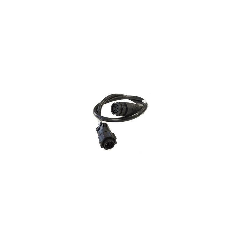 9 Pin Black XDCR til 7 Pin Blå Adapter Adapter fra Airmar til Lowrance plugg