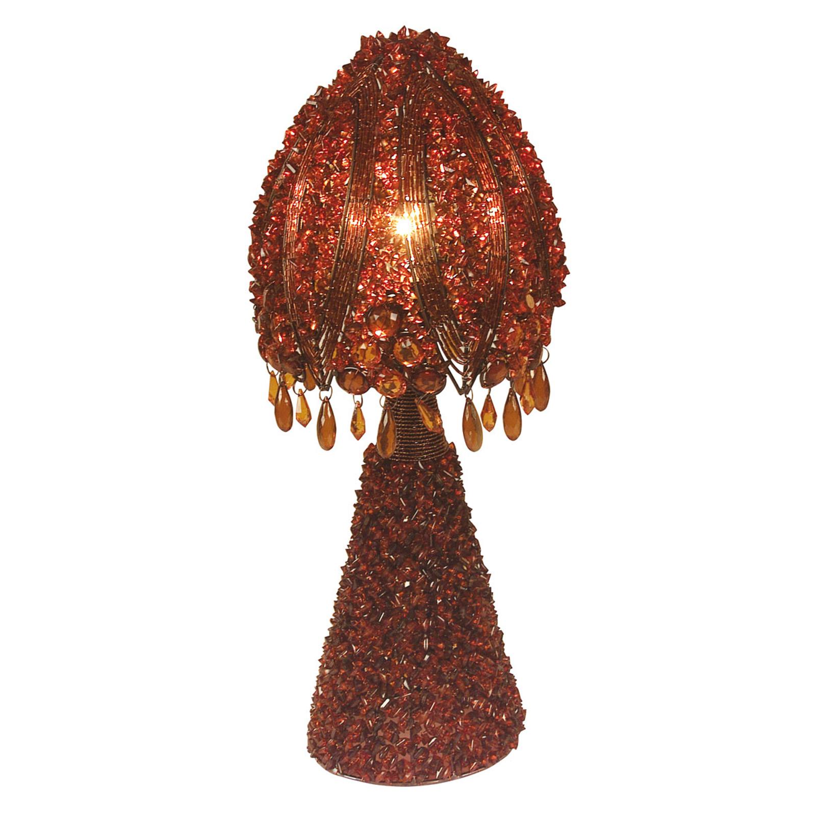 Perla-pöytävalaisin 45 cm, punainen