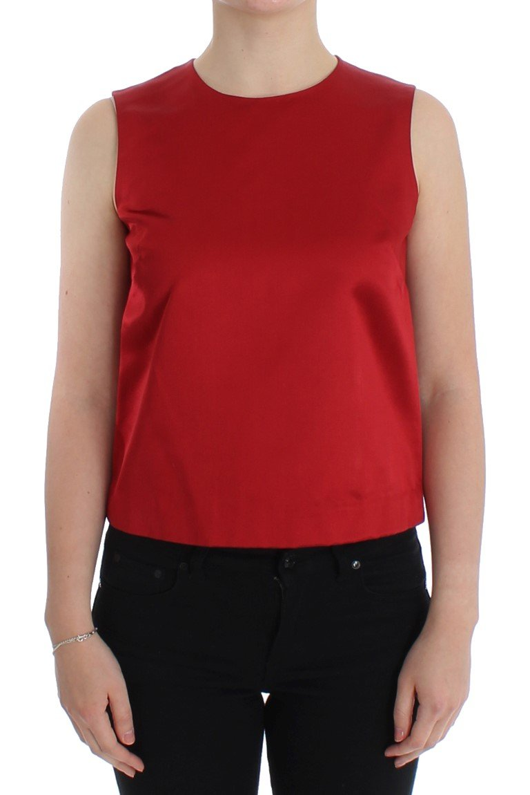 Dolce & Gabbana Women's Sleeveless Top Red SIG13214 - IT44 L