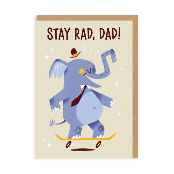 Stay Rad Dad Greeting Card