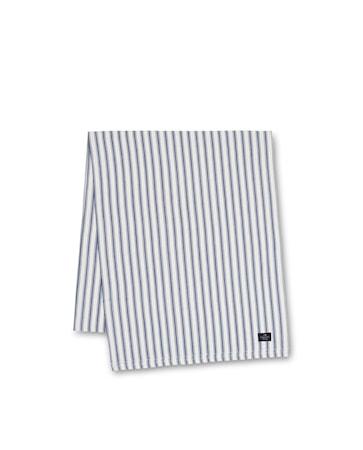 Icons Cotton Herringbone Bordslöpare Blå/Vit 50x150cm