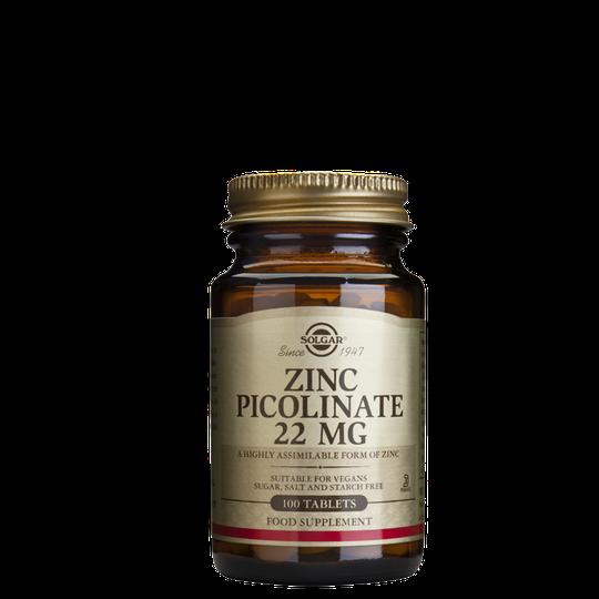 Zinc Picolinate 22 mg, 100 tabletter