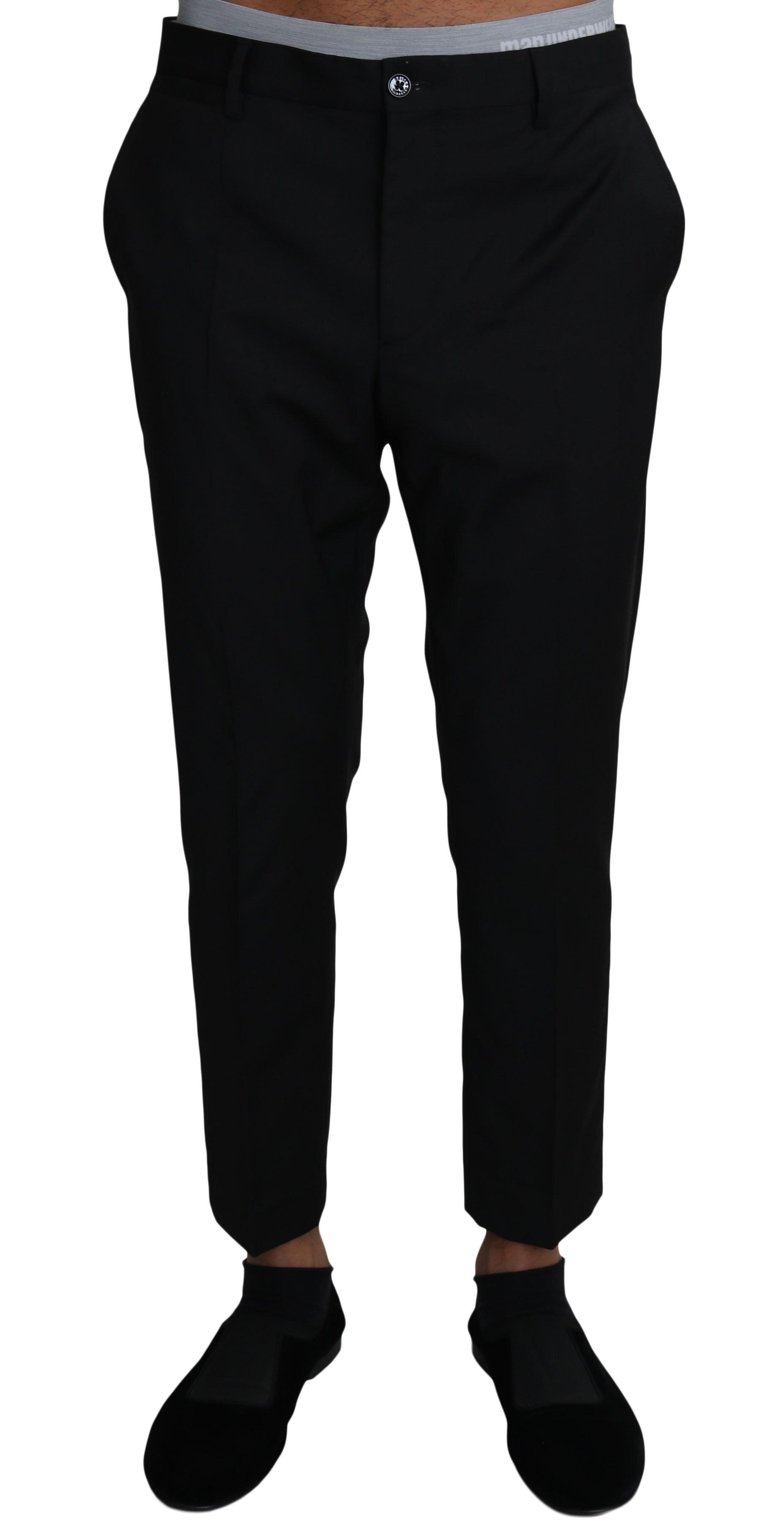 Dolce & Gabbana Men's Wool Formal Trouser Black PAN61131 - IT46 | S