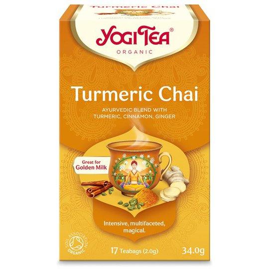 Yogi Tea Turmeric Chai, 17 påsar
