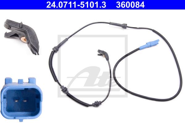 ABS-anturi ATE 24.0711-5101.3