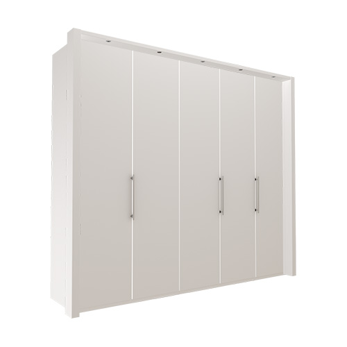 Garderobe Atlanta - Hvit 250 cm, 236 cm, Med ramme
