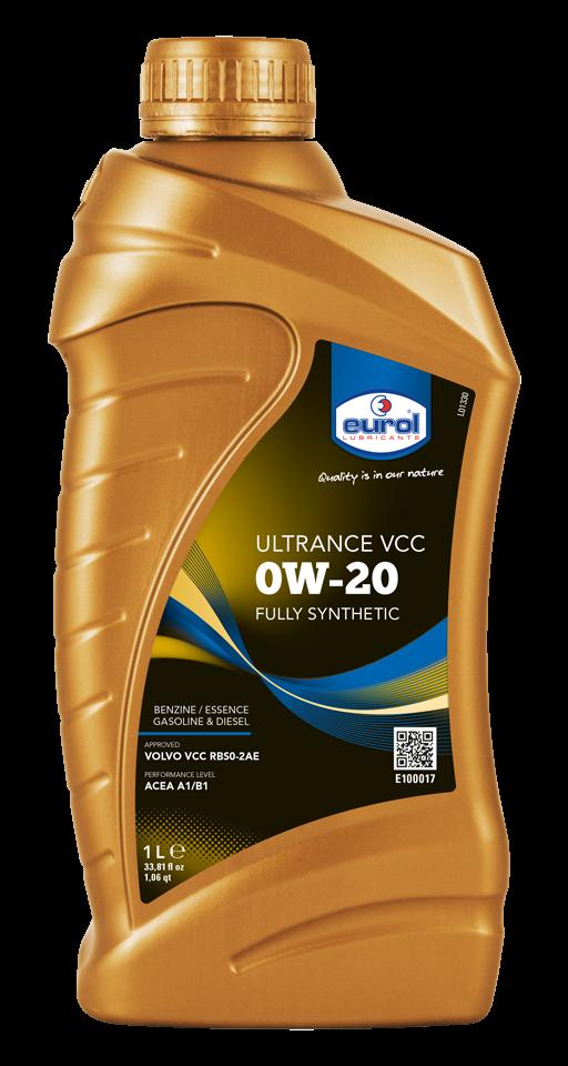 Moottoriöljy EUROL 0W20 ULTRANCE VCC 1L