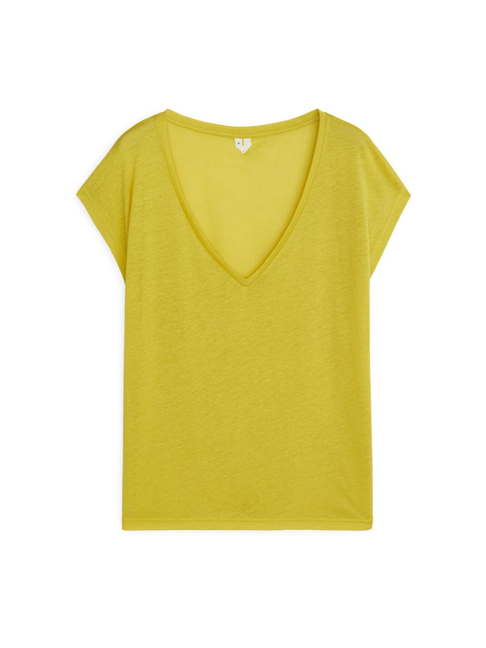 Semi-Sheer T-Shirt - Yellow