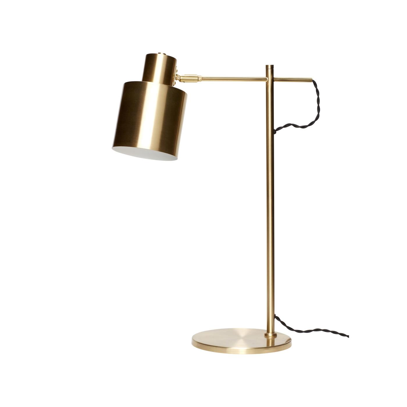 Skrivbordlampa mässing, Hubsch