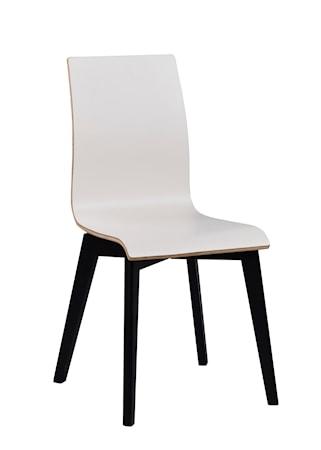 Gracy stol vit laminat/svartbetsad ek