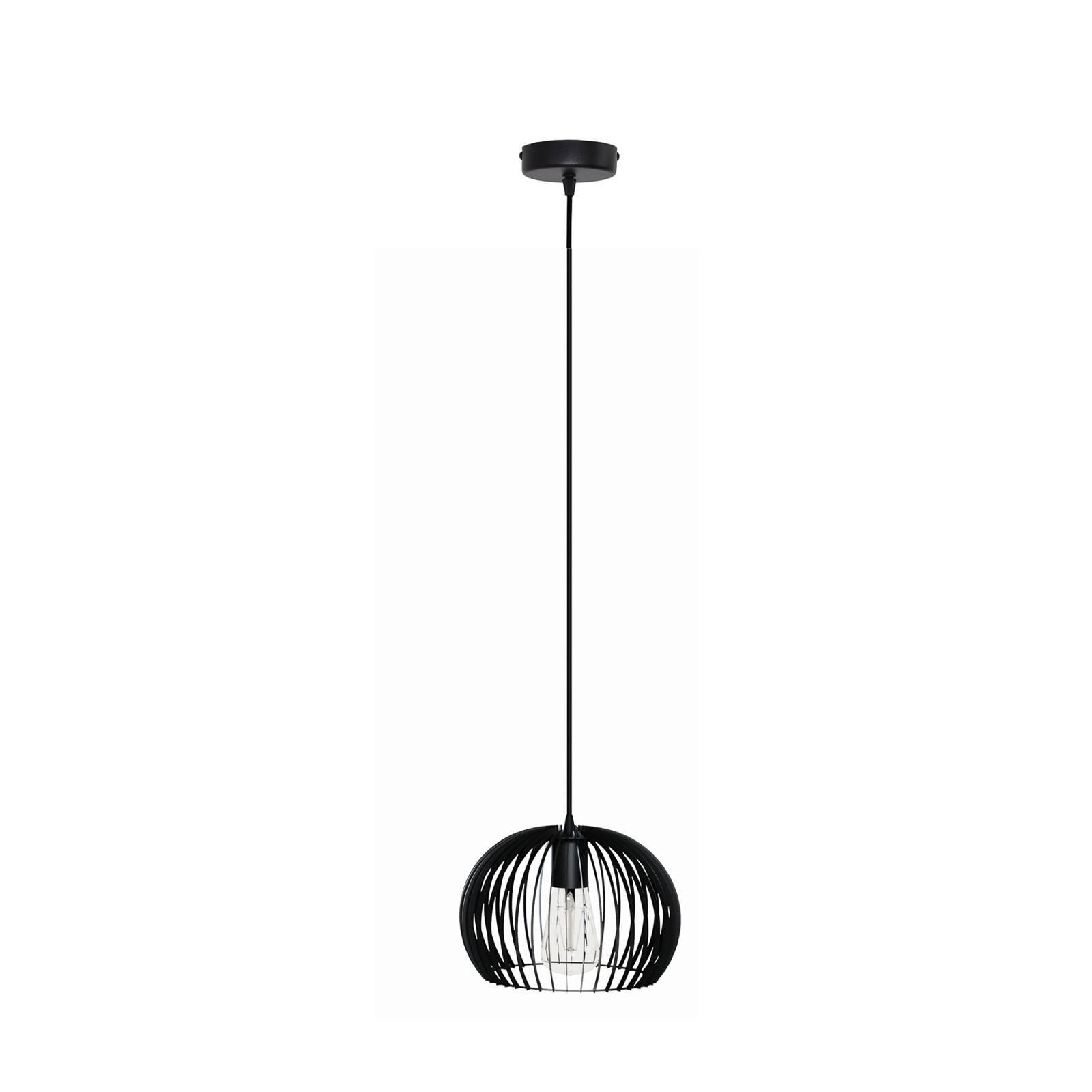 Riippuvalaisin Larus mustaa terästä, 1-lamppuinen