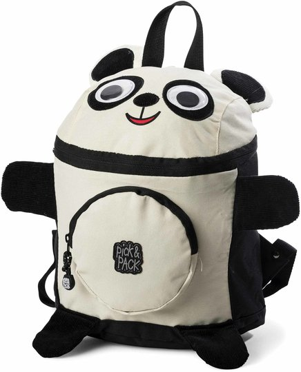 Pick & Pack Ryggsekk Panda, Black