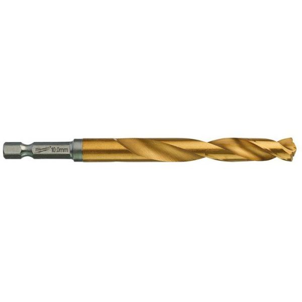 Milwaukee SHOCKWAVE Red Hex HSS-G TIN Metallbor 1-pakning 10 mm