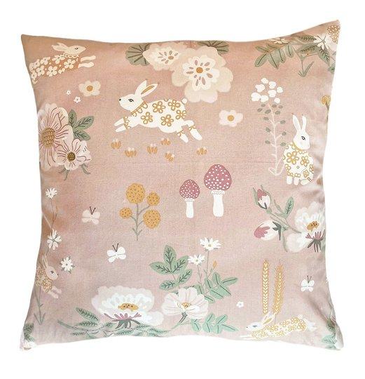 Majvillan Putetrekk 50x50 Old garden, Pink