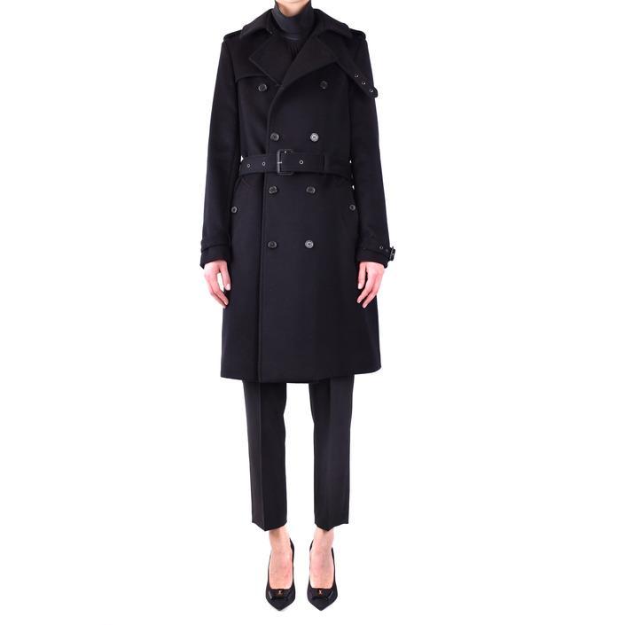 Saint Laurent Women's Coat Black 231099 - black 36