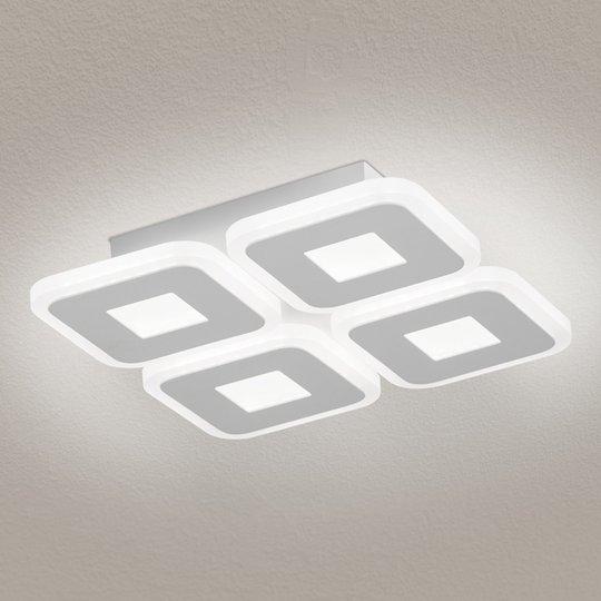 LED-kattovalaisin Domino, nelilamppuinen