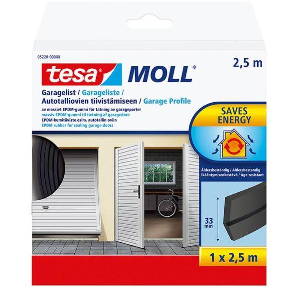 Tesa 05220-00000-01 Garasjelist EPDM, 2,5 m x 33 mm, svart