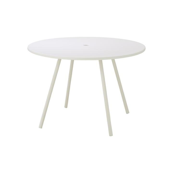 AREA Runt bord utomhus 110 cm vit, Cane-line