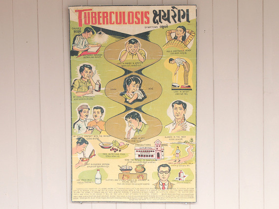 Old Indian Tuberculosis Health Education Poster Small
