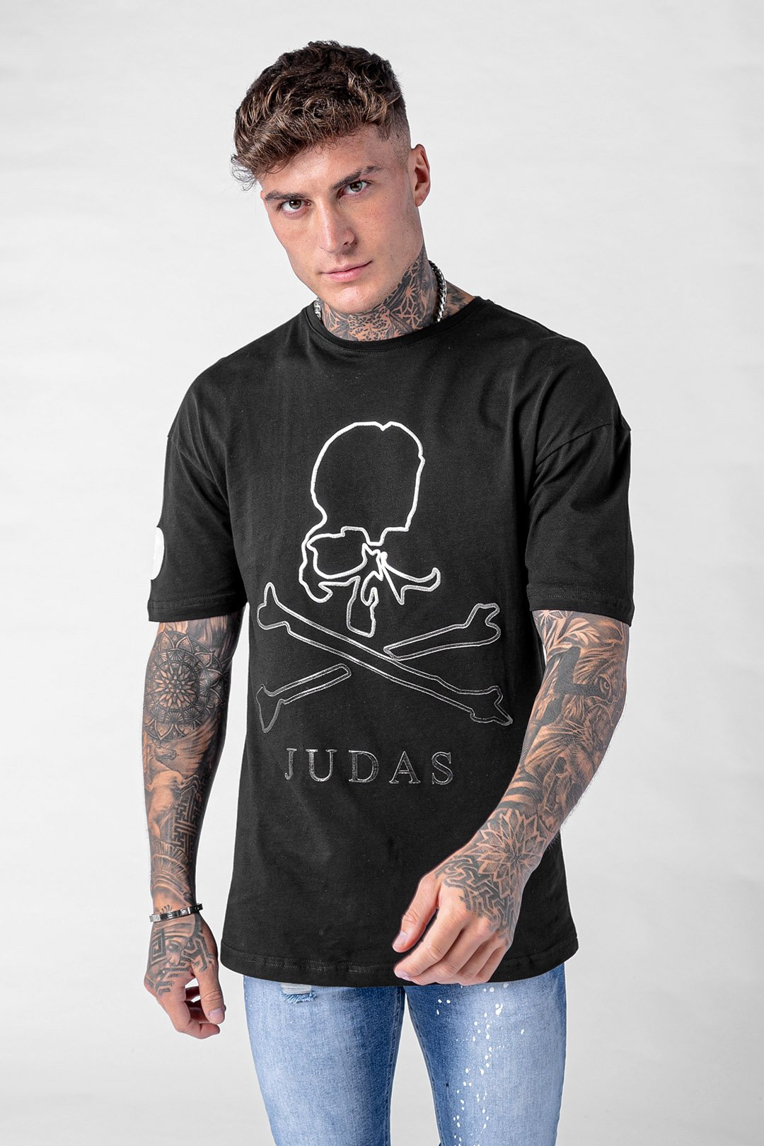 Fader Ombre Foil Skull T-Shirt - Black, Small