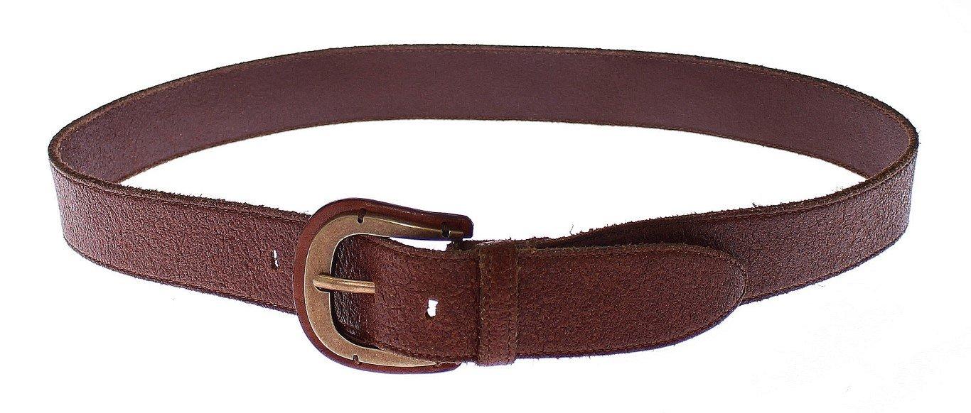 Dolce & Gabbana Men's Leather Logo Waist Buckle Belt Brown GSB10335 - 95 cm / 38 Inches