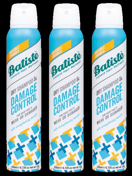 Batiste - 3 x Dry Shampoo Damage Control 200 ml
