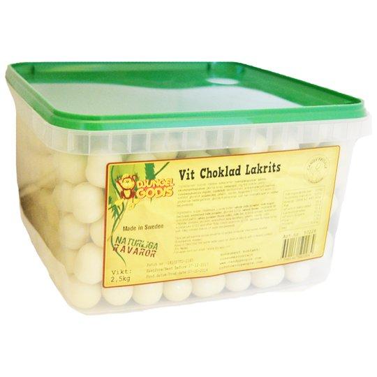 Hel Låda Godis Vit Choklad & Lakrits 2,5kg - 62% rabatt