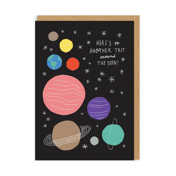 Around The Sun Birthday Greeting Card
