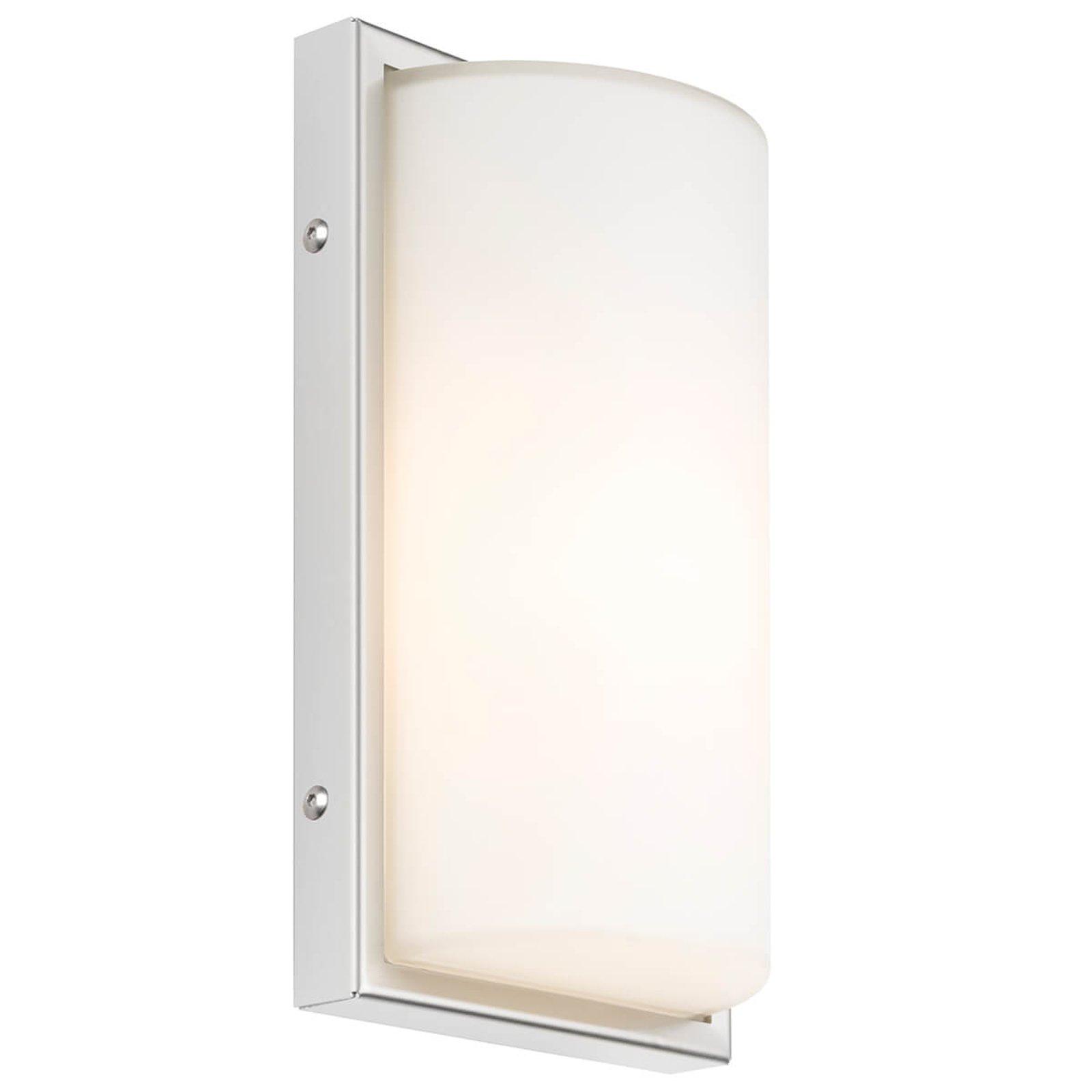 040 utendørs vegglampe med sensor, hvit