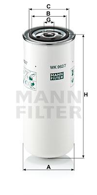 Polttoainesuodatin MANN-FILTER WK 962/7