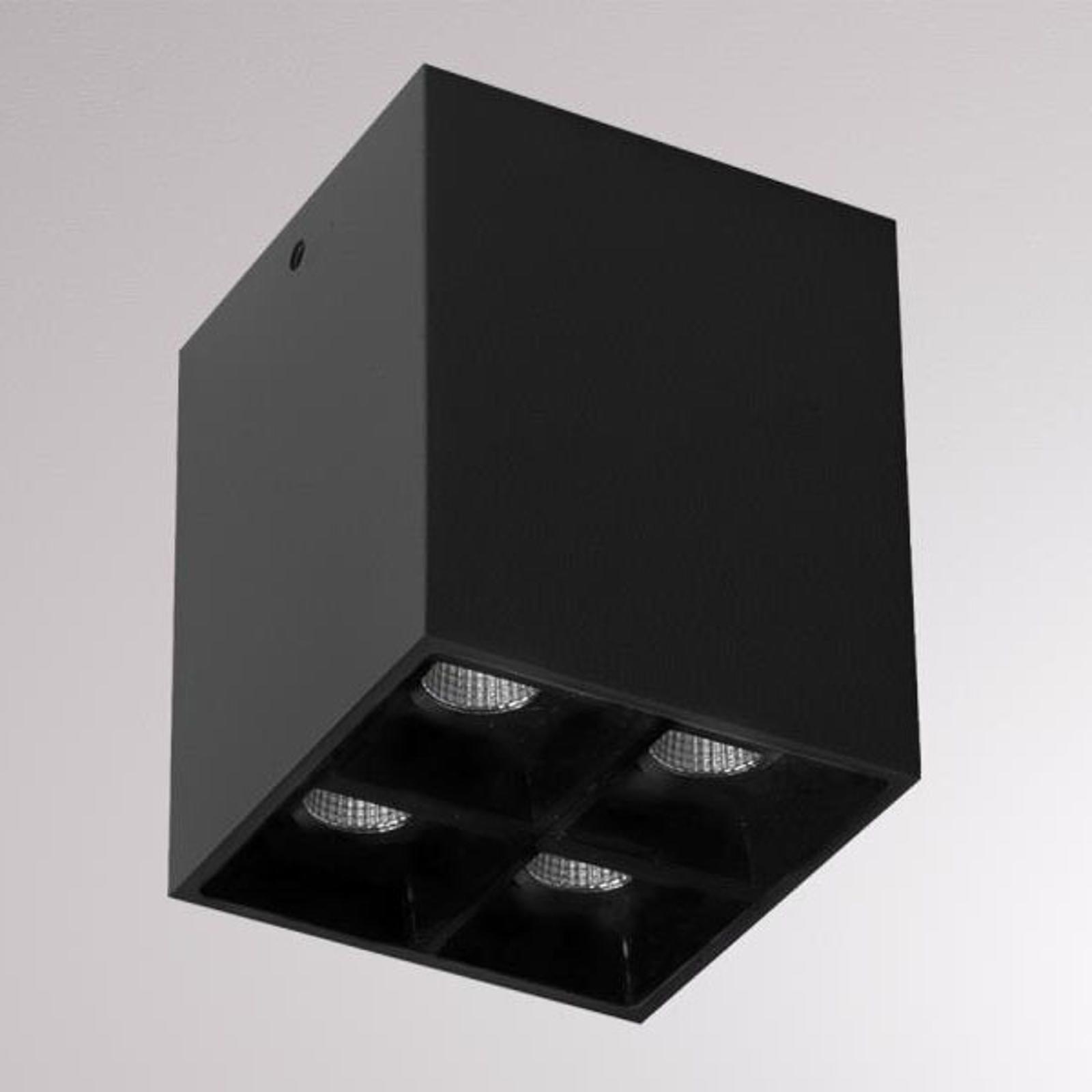 LOUM Liro -LED-kattokohdevalo, musta 34° 3 000 K