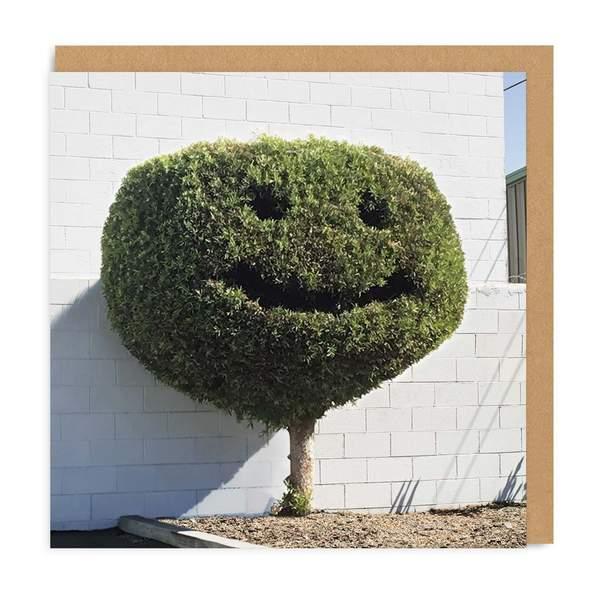 Happy Tree Square Greeting Card
