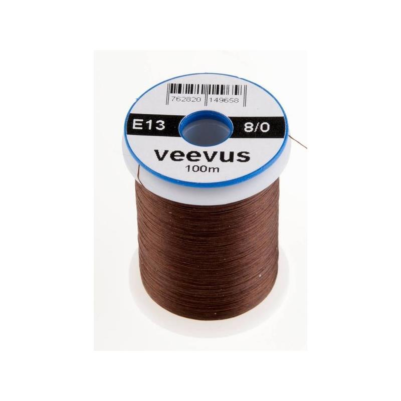 Veevus bindetråd 8/0 - Dark Dun Brown Råsterk, lett å splitte