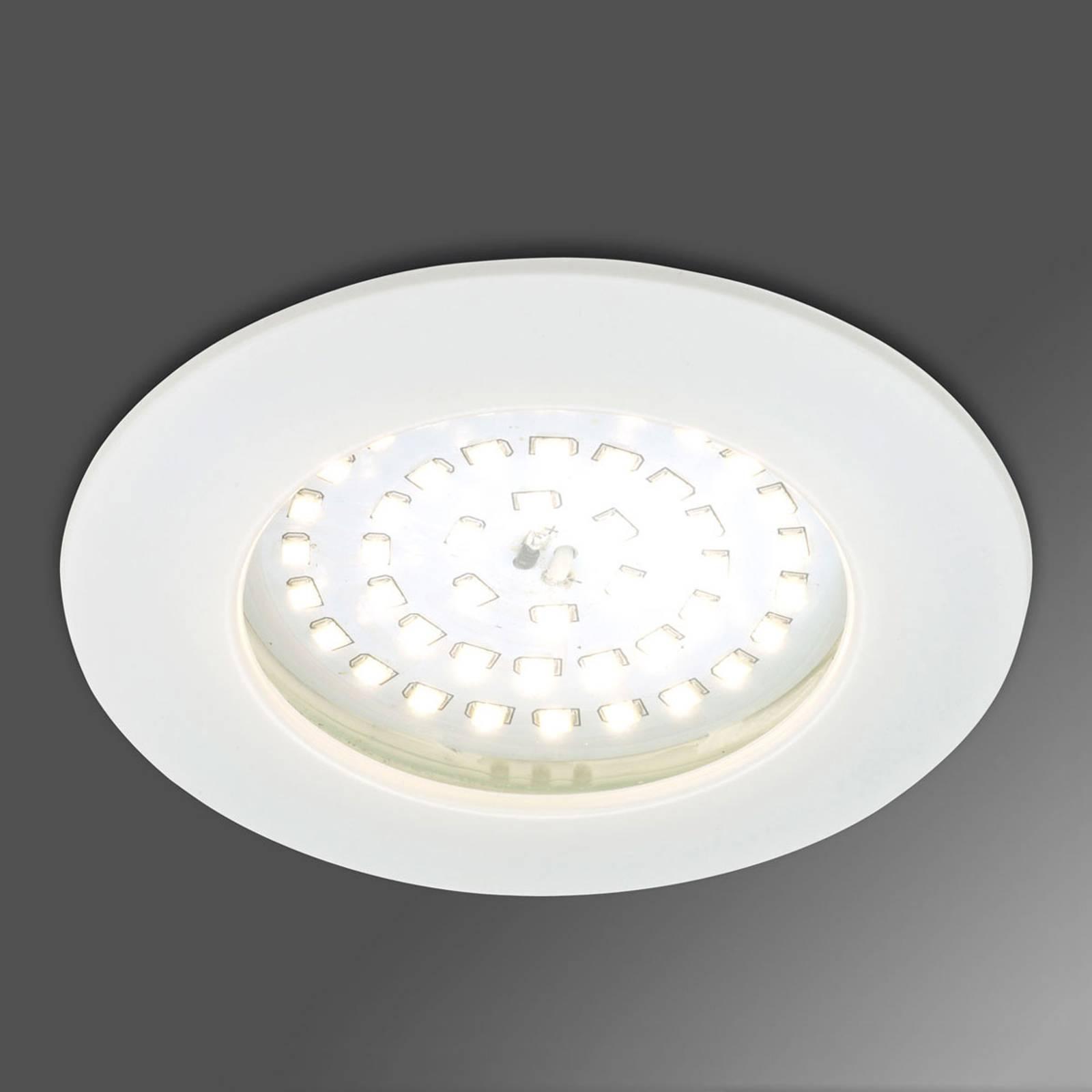 Tehoste-LED-uppokohdevalaisin Paul valkoinen