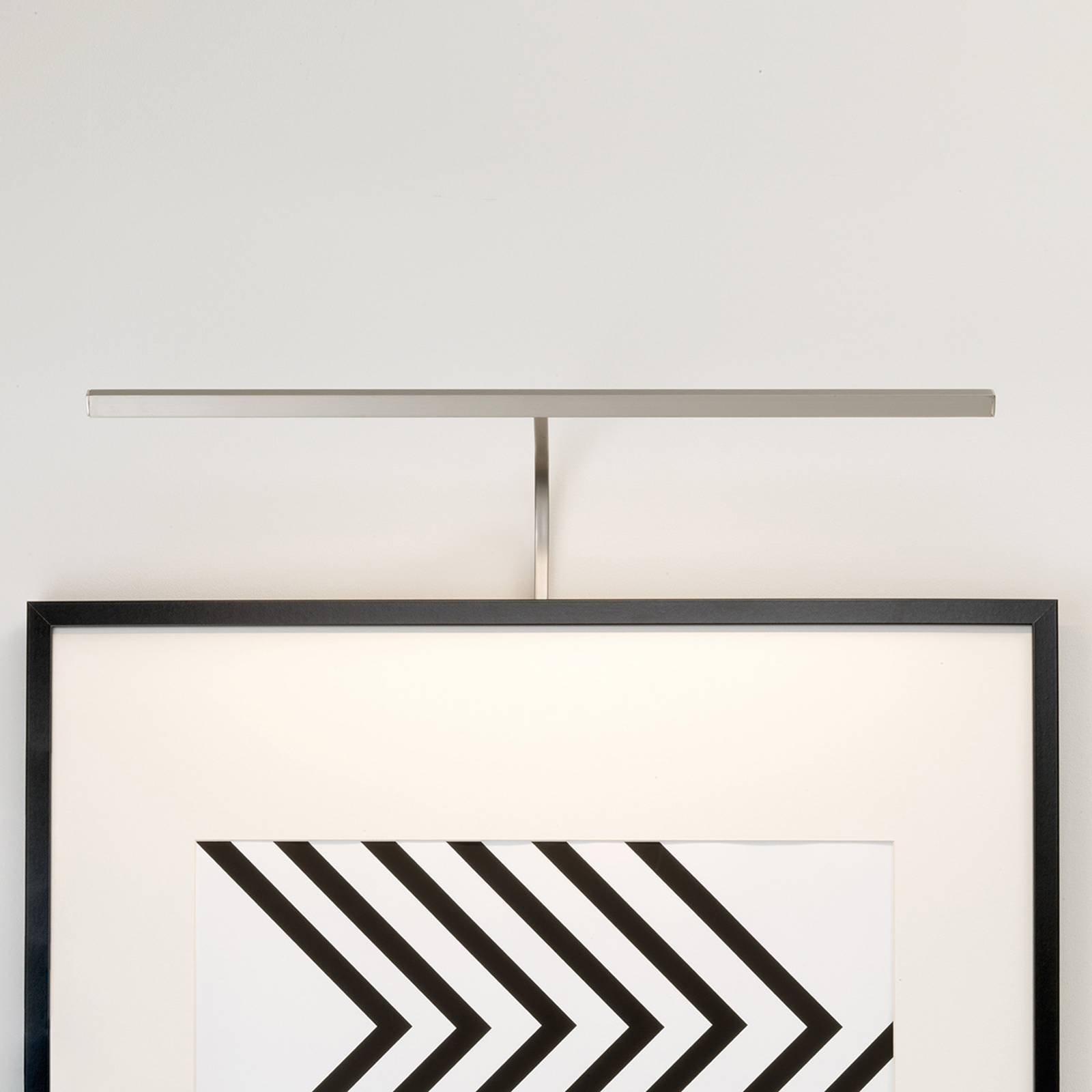 Astro Mondrian rammemont. vegglampe, nikkel 60 cm
