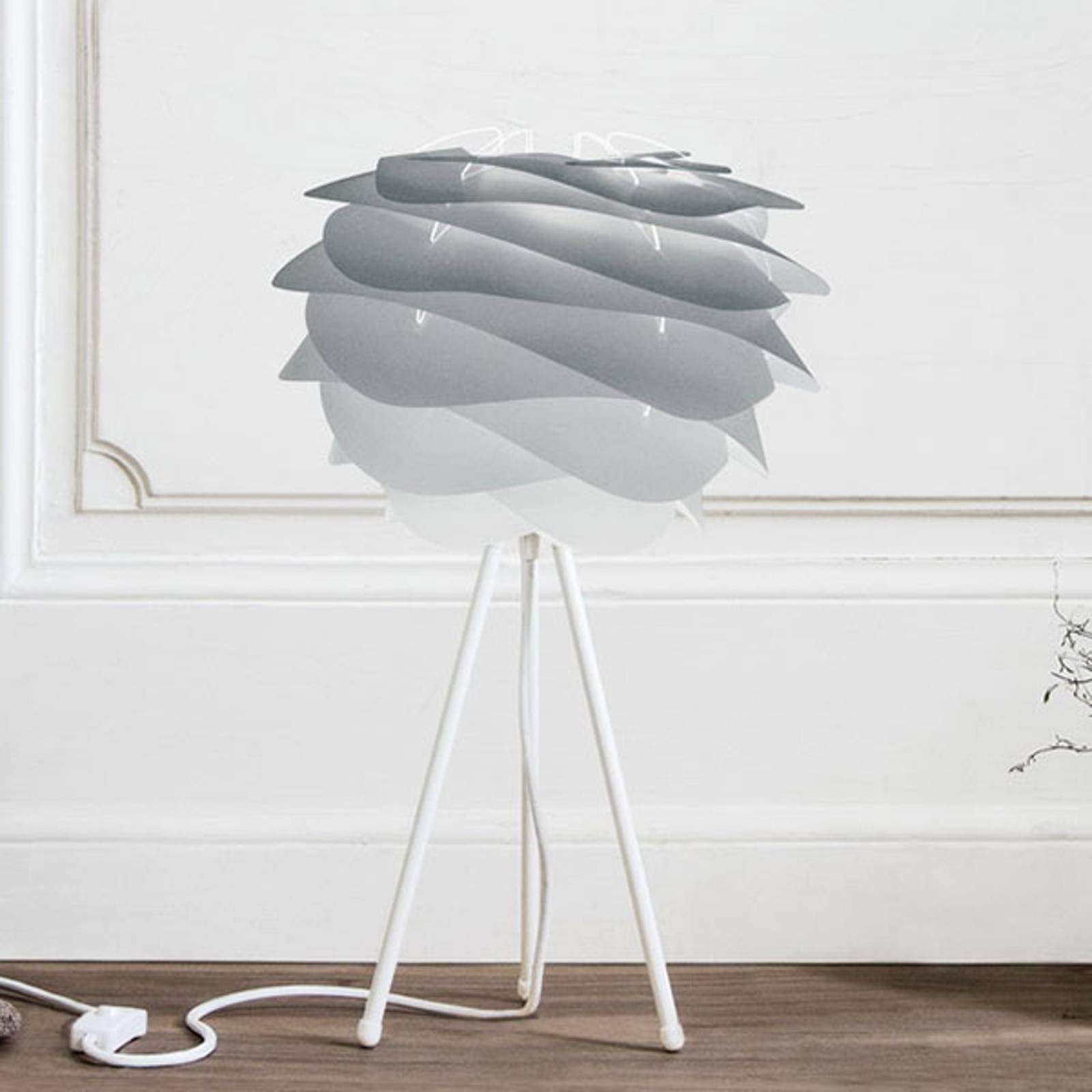 UMAGE Carmina Mini bordlampe, grå/hvit