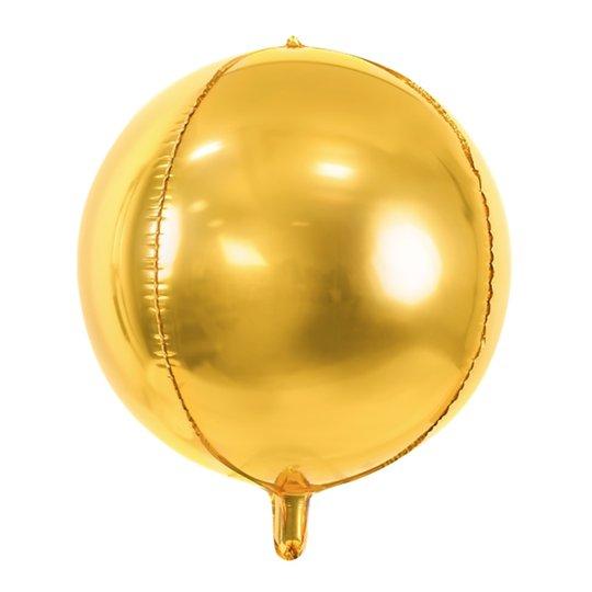 Folieballong Boll Guld