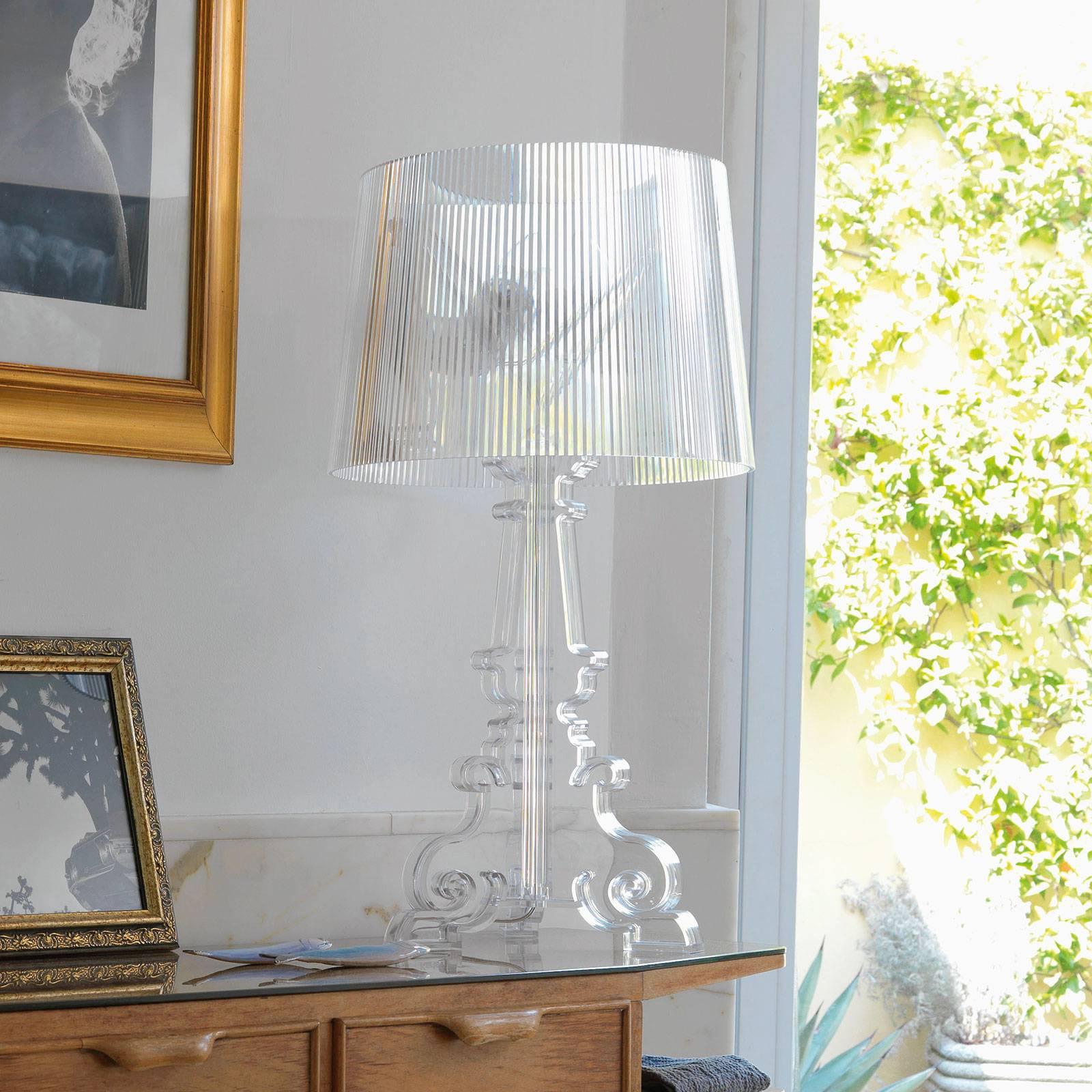 Kartell Bourgie -LED-pöytälamppu, läpinäkyvä