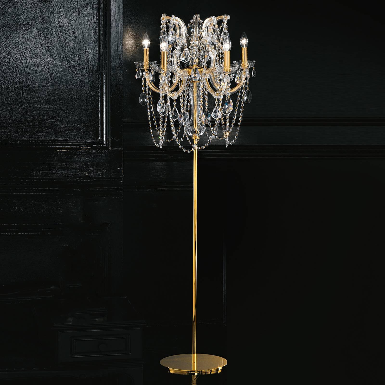 Opphøyet stålampe Annino med Swarovski Elements
