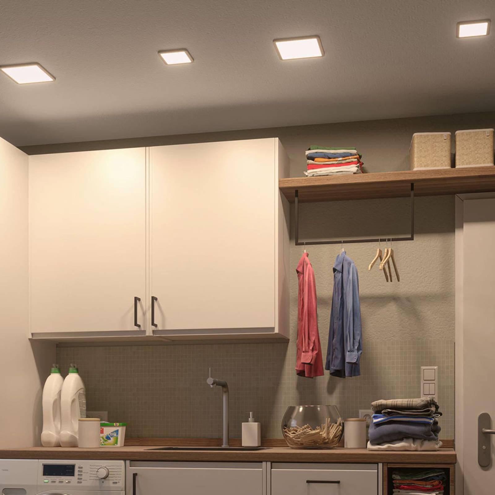 Paulmann LED-panel Areo 3 000 K kantet 11,8cm hvit
