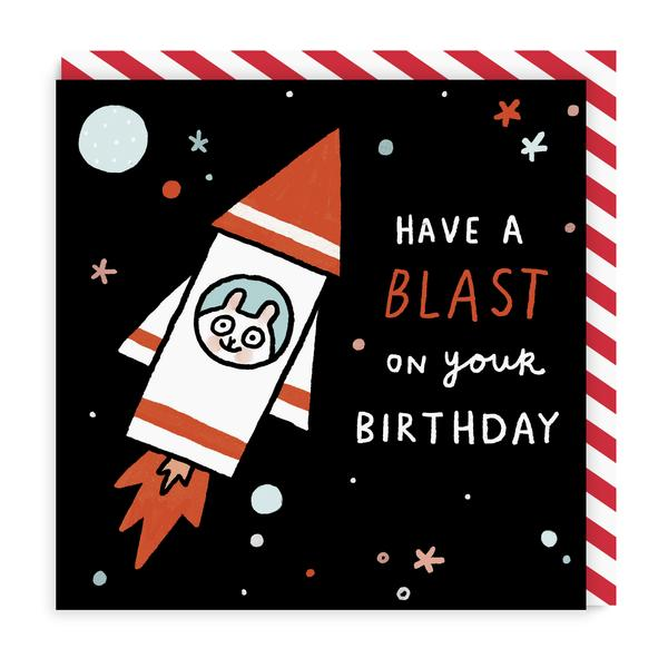 Have A Blast! Square Birthday Greeting Card