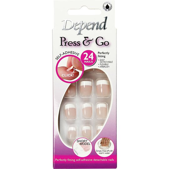Depend Press & Go Adhesive Fake Nails 6091 - Lyhyt Malli, Depend Depend Kynsilakat