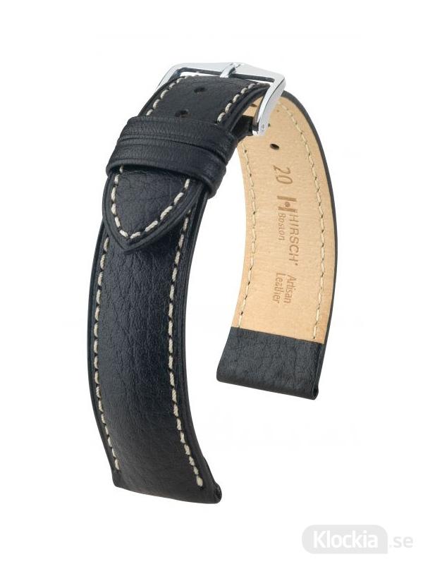 Klockarmband Hirsch Boston 12mm Medium Svart/Silver 01302150-2-12