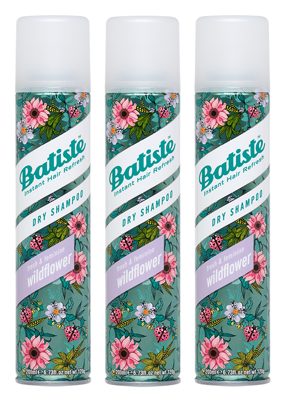 Batiste - 3 x Dry Shampoo Wildflower 200 ml