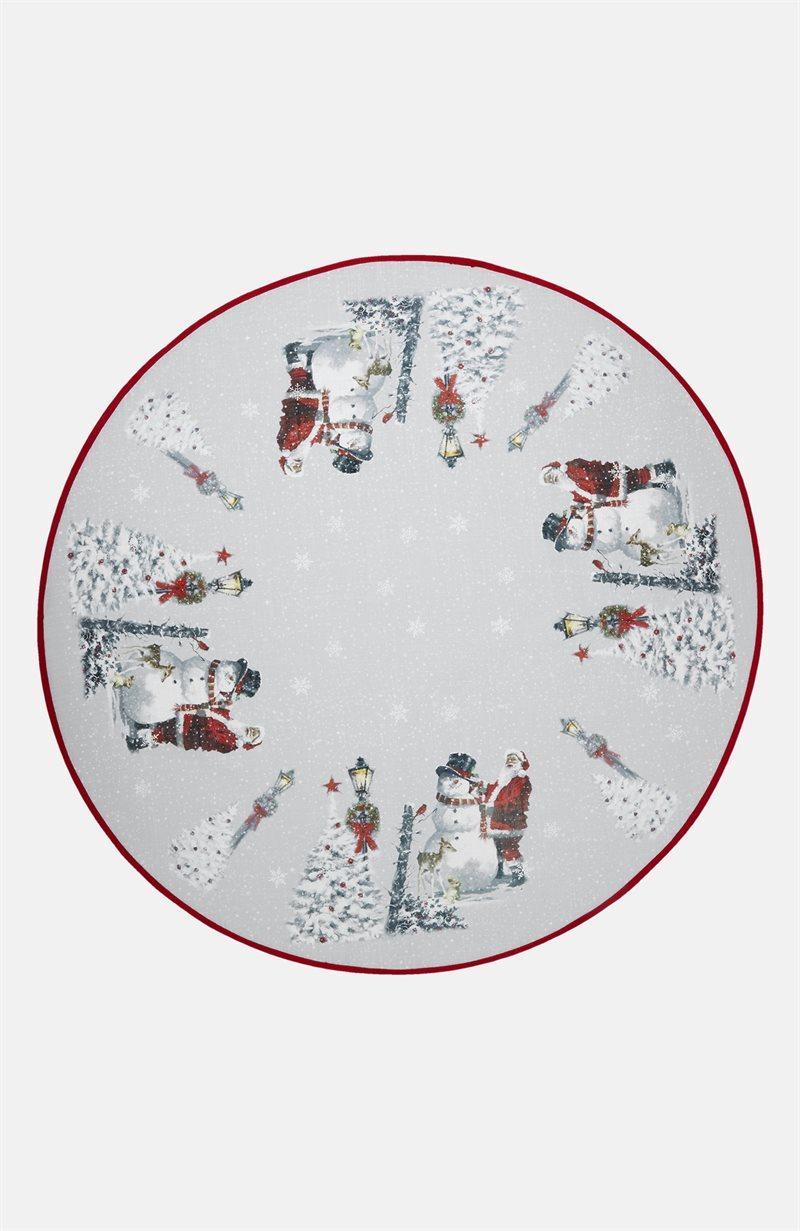 Julkväll joulukuusen matto joulupukki/lumiukko