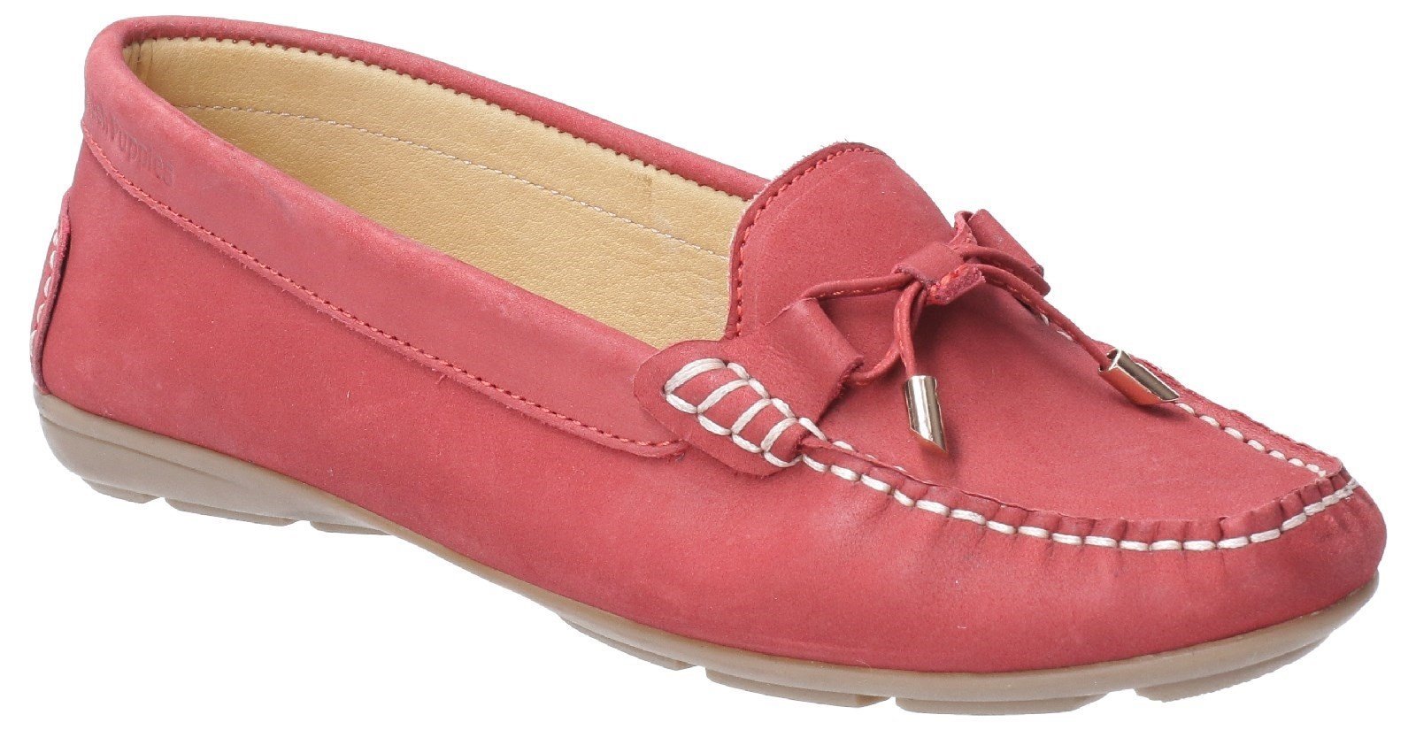 Hush Puppies Women's Maggie Slip On Loafer Shoe Various Colours 28405 - Red 3