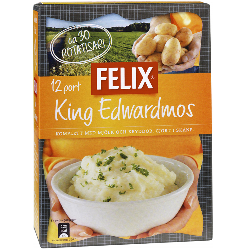 """Potatismos """"King Edward"""" 420g - 24% rabatt"""